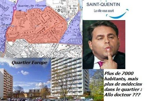 Xavier Bertrand,Maire de Saint Quentin, ex Ministre de la Santé , Allo Docteur ?