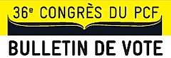36ème congrès du PCF – La direction fait passer sa motion comme une formalité administrative. Mais le vrai débat ne pourra pas être évacué ! dans 36éme Congrès du PCF 130101_vote_congres