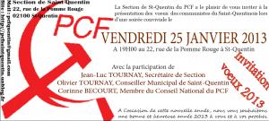 Les Communistes du Saint-Quentinois vous invitent le vendredi  25 janvier à 19h00 à la présentation de leurs voeux . dans Communisme-Histoire- Théorie invitation-voeux-2013-300x135