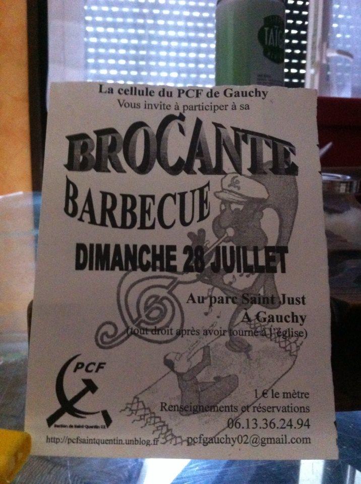 Journée brocante et barbecue dimanche 28 juillet, organisée par la cellule des Communistes de Gauchy dans Divers 944549_10200468618138166_1575413851_n