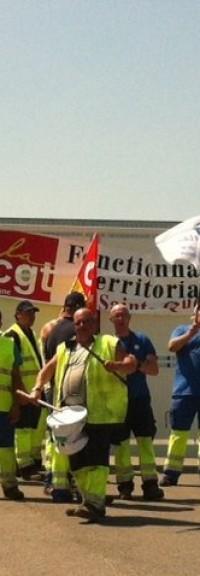 Les agents de propreté de la ville de Saint-Quentin sont en grève