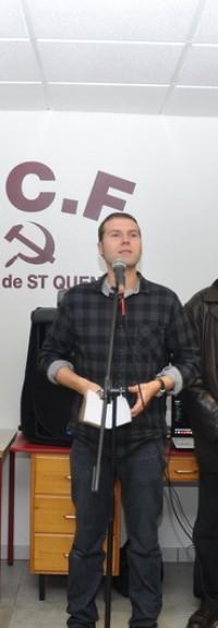 Belle réussite pour la soirée des voeux 2014 de la Section PCF de Saint Quentin