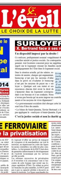 Sortie de l'Éveil n°5, le journal de la Section de Saint-Quentin