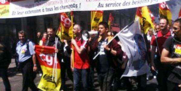 Grève massivement suivie à la SNCF contre un projet ni négociable, ni amendable !