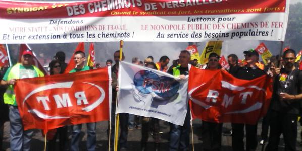 CGT Cheminots Versailles : Grévistes admirables, CFDT/UNSA minables, gouvernement lamentable!